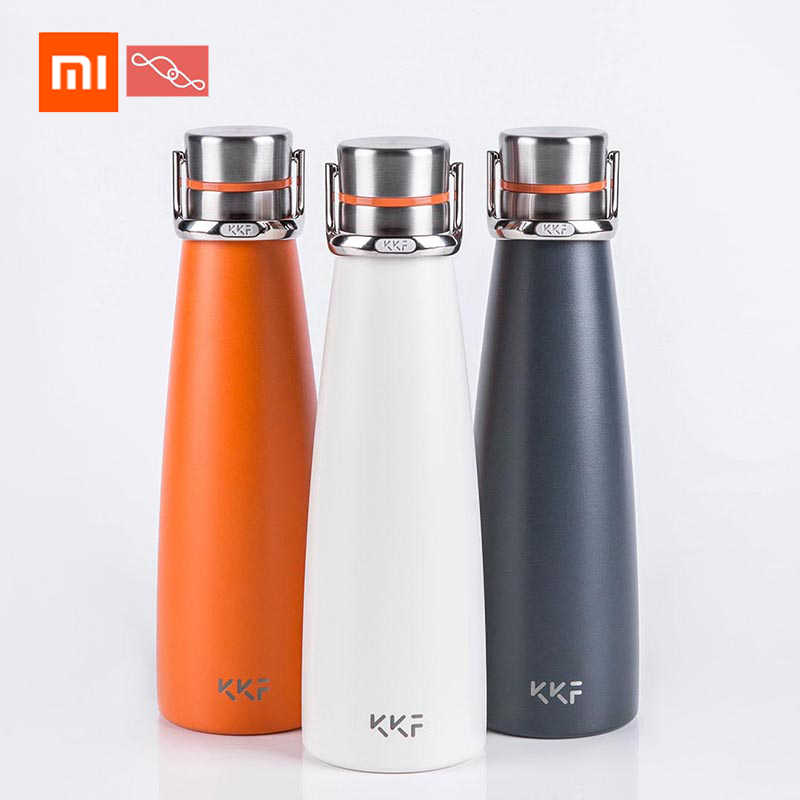 Xiaomi Kiss Fish KKF Portable Thermo Cup 475ML Travel Mug 24 Hours Flask Water Stainless Steel Outdoor Sports Cup Vacuum Coffee