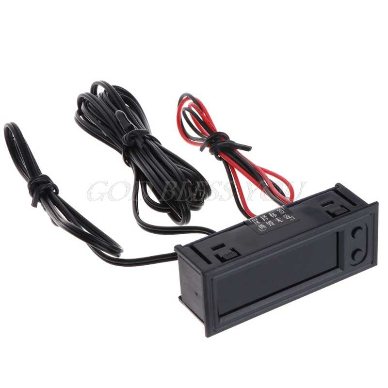 DIY Multifunction High-precision Clock Inside and Outside Car Temperature Battery Voltage Monitor Panel Meter DC 12V