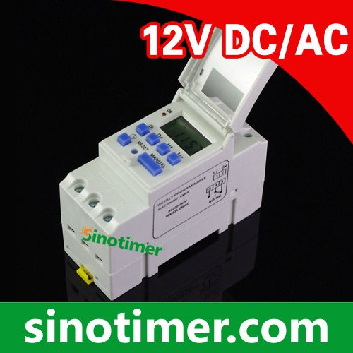 Professional Factory Wholesale Digital TIME SWITCH Weekly 7 Days Programmable Timer 12V DC AC 16A big lcd display timer 6v 9v 12v 24v dc ac 7 day weekly programmable time switch relay control for led light or solar application