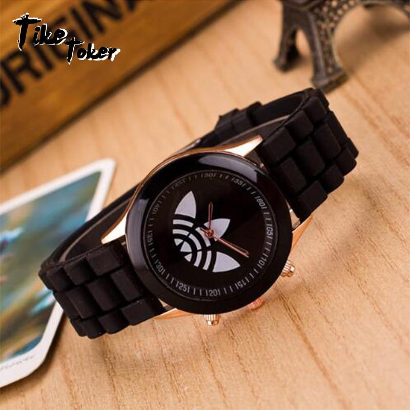 TIke Toke,reloj Mujer Luxury Women Watch Fashion Clover Design Elegant President Silicone Dress Men Watch Relogios Masculino 08