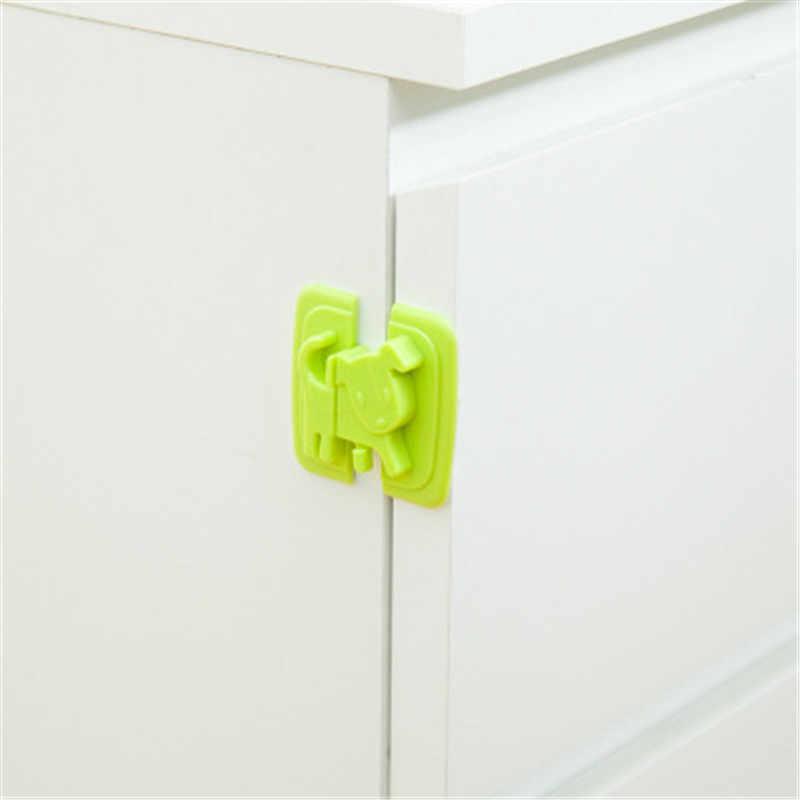 2 uds. Cerraduras de seguridad en forma de cachorro para refrigeradores puerta seguridad para bebés protección contra niños candado bloqueador de seguridad Castillo