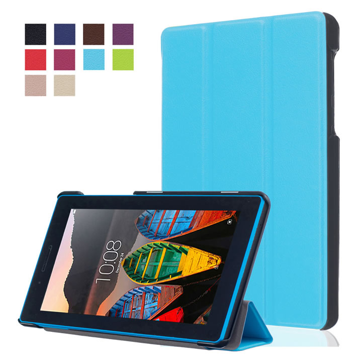 3 in 1 ,PU Leather Case Cover For Lenovo Tab 3 7 730 730F 730M 730X TB3-730F TB3-730M 7 Tablet Screen Protector Film + Stylus