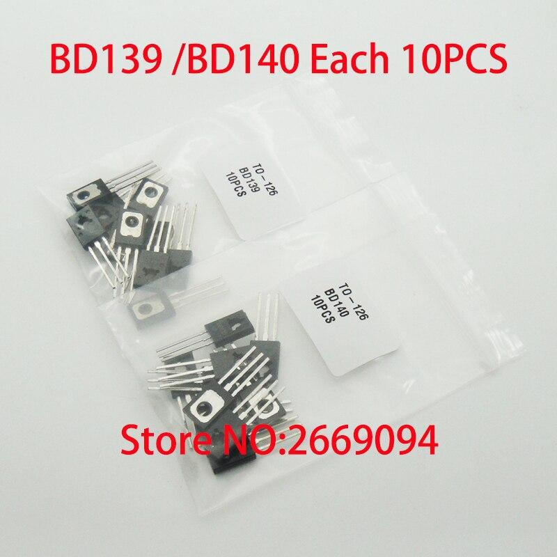 40PCS BD135 NPN Plastic Power Transistor TO-126
