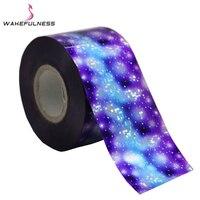 120M 4CM Laser Glitter Starry Sky Nail Foils Meteor Shower Nail Art Transfer Foil Stickers Rainbow