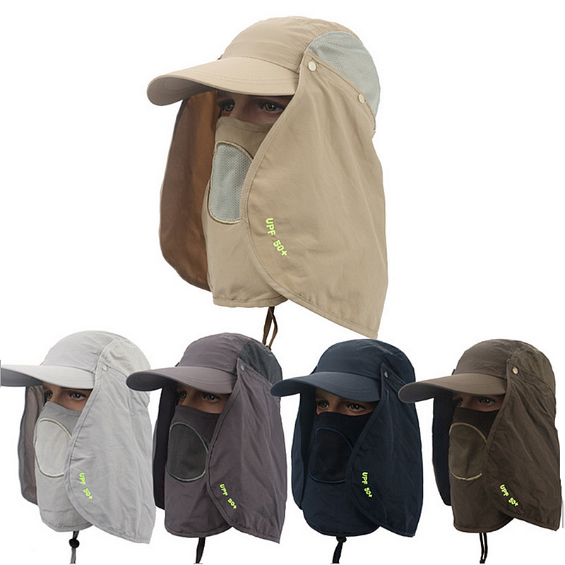 Anti UV UPF 50+ hats men summer cap outdoor sun shading anti ultraviolet  ray Beach Hat fishing hat fisherman Quick drying caps 01727dabb20