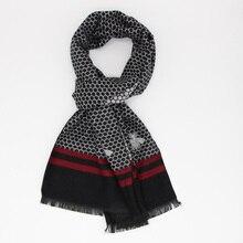 Новейший модный дизайн, повседневные шарфы, зимний мужской шарф из вискозы, роскошный бренд, высокое качество, теплый шейный платок, модальный шарф LL180105