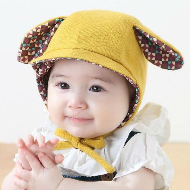 Automne Hiver Enfant En Bas Âge Infantile Tricoté Bébé Chapeau Adorable  Lapin Long oreille Chapeau Bébé ad0aa2640e3