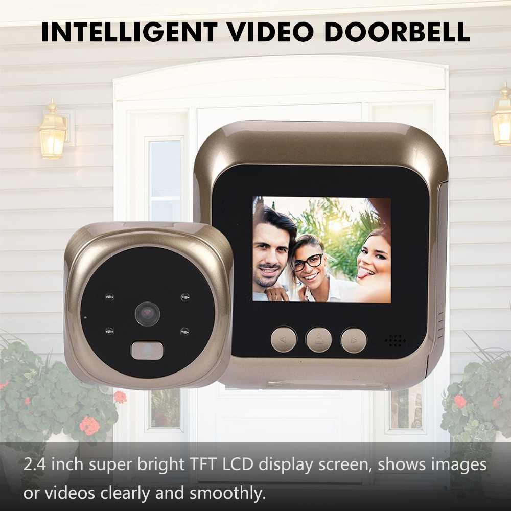 2.4 inch Digital <font><b>Door</b></font> Doorbell LCD Color <font><b>Screen</b></font> 135 Degree peephole Viewer Doorbell Outdoor <font><b>Door</b></font> <font><b>Bell</b></font> Night Vision image