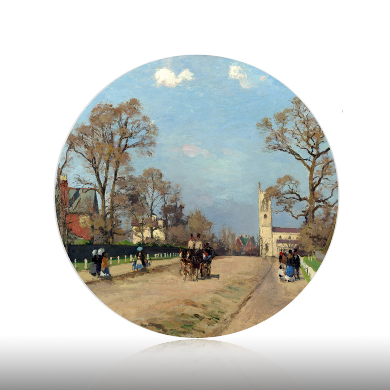 Pissarro Landscape Wall Decorative Plates France Home Artistic Dish Hotel Living Room Background Display Oil Painting Plates|Bowls & Plates| |  - title=