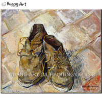 Hand Painted Reproduction Of Van Gogh S A Pair Of Old Shoes By Skillful Painter Applys