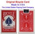 Original bicicleta poker 1 unids azul o rojo regular cubiertas de bicicletas jinete volver estándar naipes magic trick envío gratis