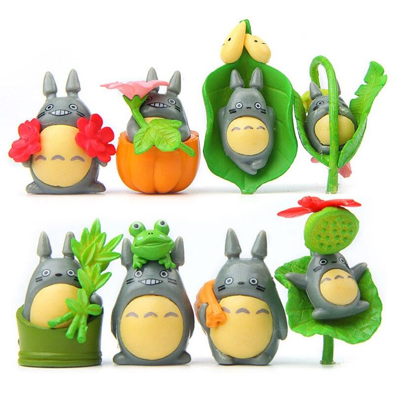 Action & Toy Figures 8pcs/set Studio Ghibli My Neighbor Totoro Figure Hayao Miyazaki Have Bumper Harvest Totoro Action Figures Toys Gifts Decor