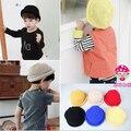 5 шт. / серия младенец дети skullies шапочки осень зима младенцы в вязание шерсть шляпа мальчик девочки ведро кепка