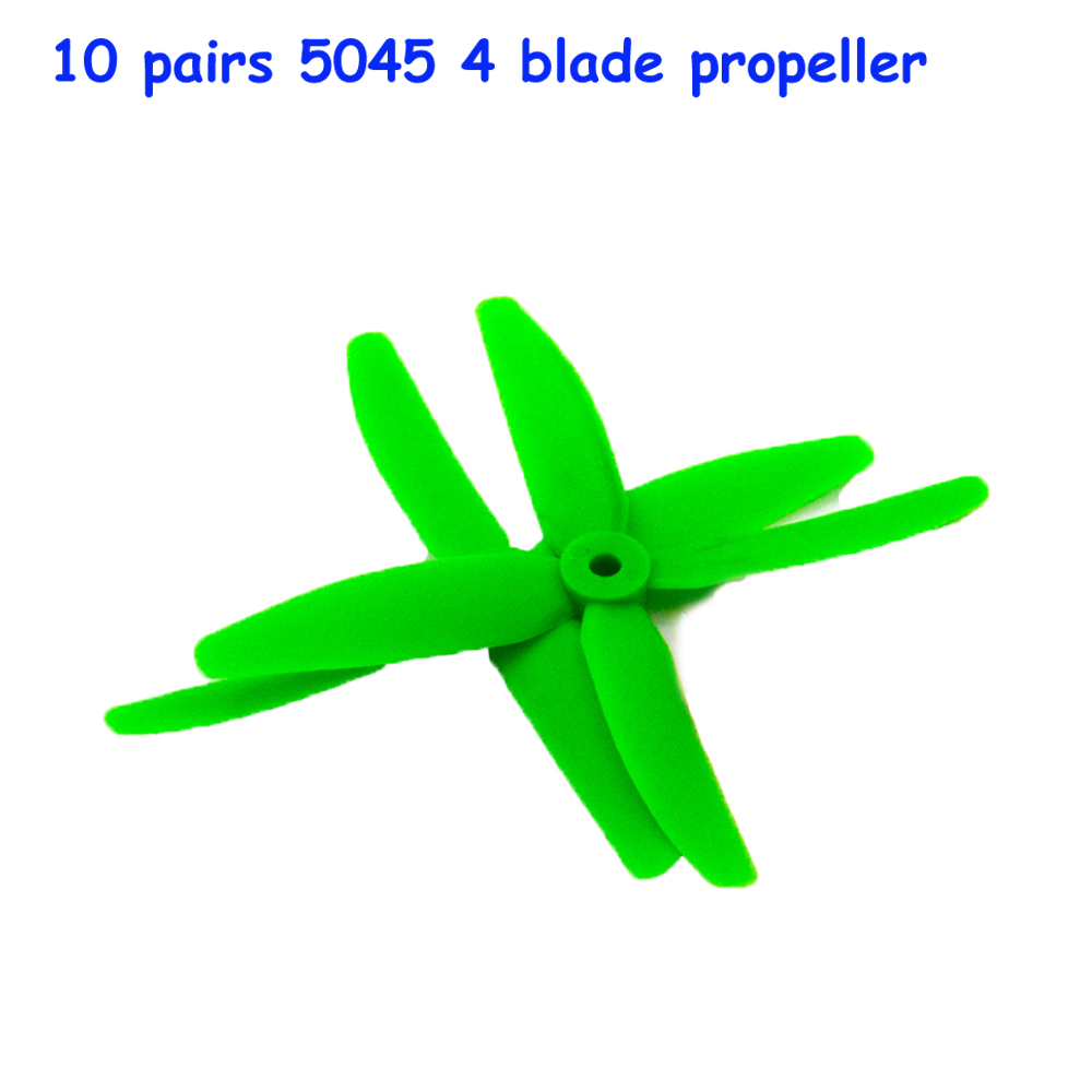 10 pairs FPV 4 blade propeller 5045 CW CCW X50404 Props for kit 200 320