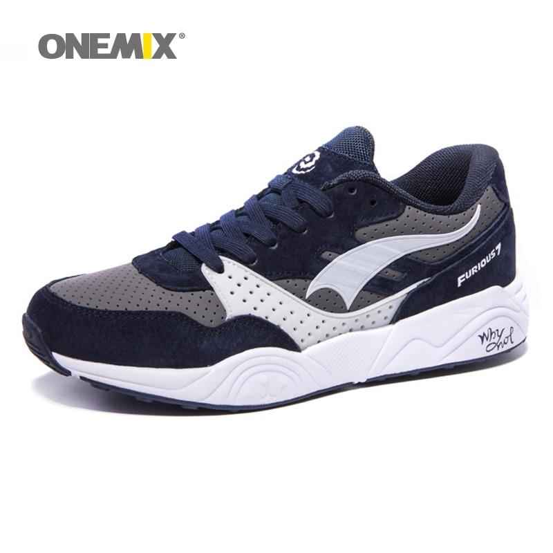ONEMIX ต้นฉบับ Fast & Furious 7 ผู้ชายรองเท้าวิ่งตราระบายอากาศเดินกลางแจ้ง c haussures de 750 รองเท้ากีฬาย้อนยุค