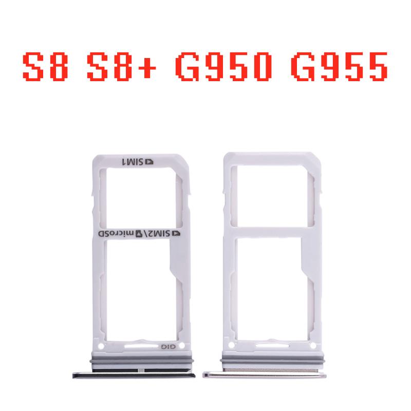 For Samsung Galaxy S8 G950 G950F S8 Plus + G955 G955F SIM Card Slot SD Card  Tray Holder Adapter Dual Sim Card Cutter Normal Sim To Micro Sim Cutter