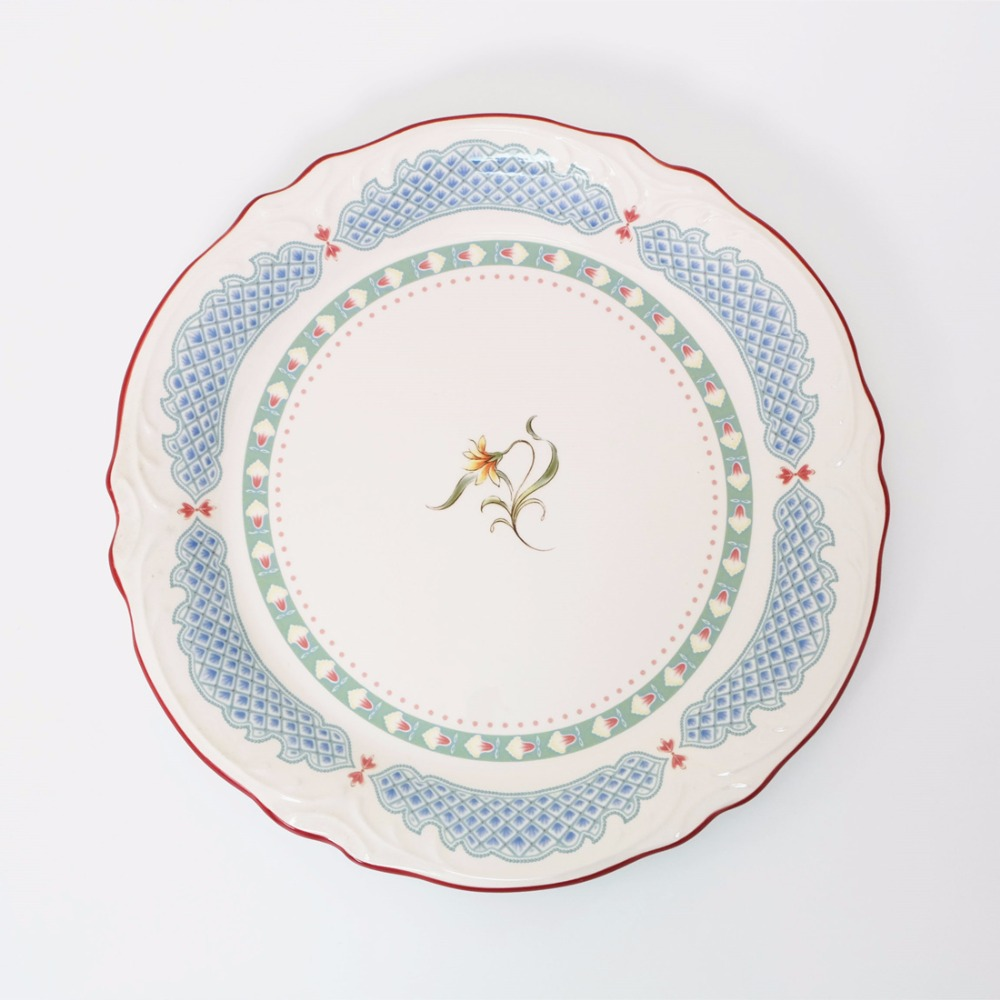 1pc Wildflower in Spring Hand Painted Plate Dish French Country Style Ceramic Tableware Dinnerware Cake Plate-in Dishes u0026 Plates from Home u0026 Garden on ...  sc 1 st  AliExpress.com : spring dinnerware - pezcame.com