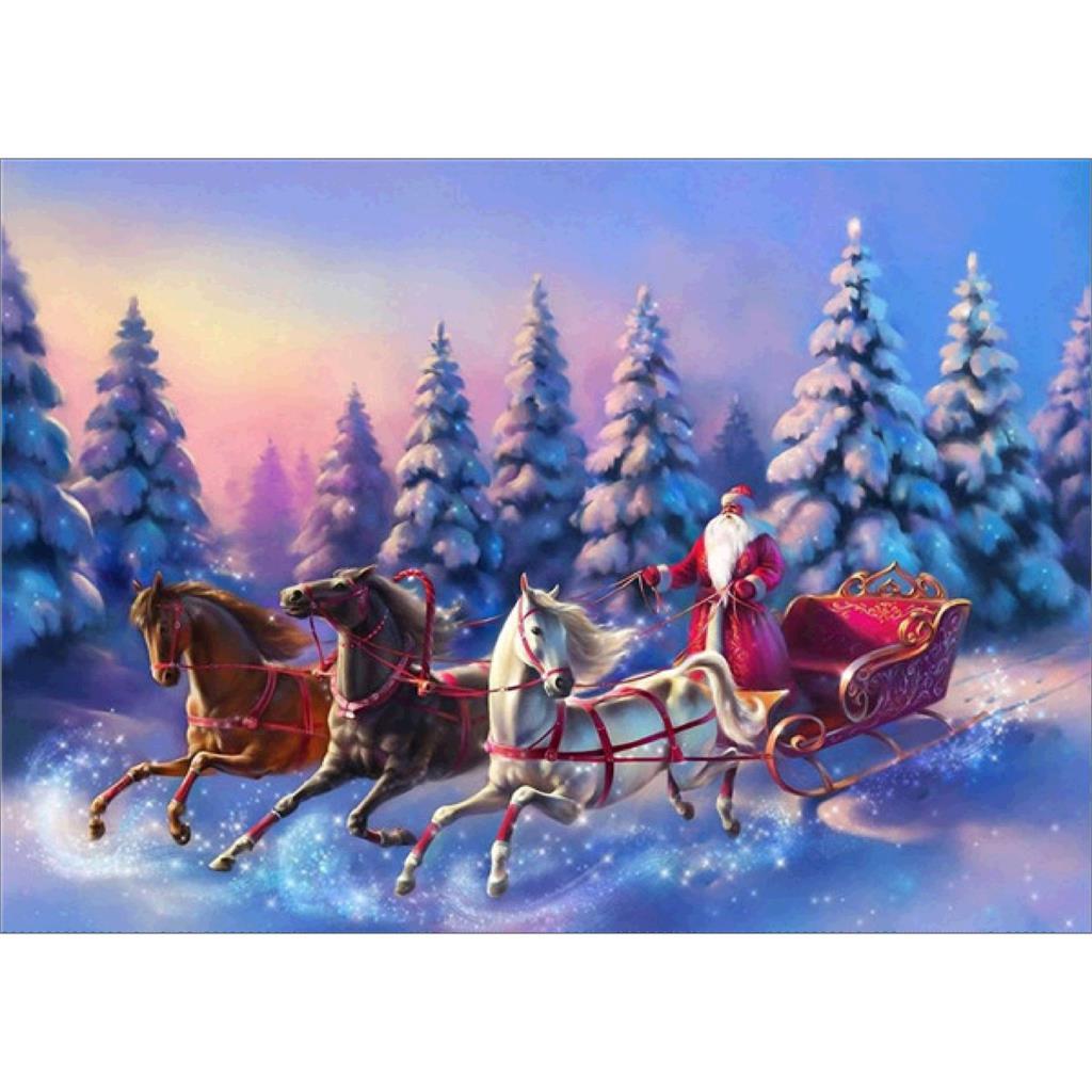 Noël 5D diamant peinture plein diamant bricolage broderie strass autocollants point de croix art artisanat décoration murale maison, hor