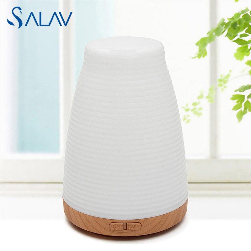 SALAV Ultrasonic Aroma Diffuser Humidifier Electric Essential Oil Aromatherapy Light Changing Color Mist Maker Refresh LBX102 salav gs18 диджей 120 белый производительность серии отпариватели для одежды со складной вешалкой