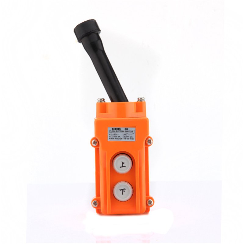 Hoist Crane Pendant Push button Switch Up-Down Station Heavy Duty Rainproof COB61 Lowest Price 2 3 position selector momentary up down 2 way hoist crane push button switch