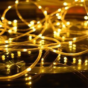 Image 2 - LED チューブストリップライト 8 プレイモードリモコン USB 花輪屋外屋内 DIY 装飾はクリスマスライト
