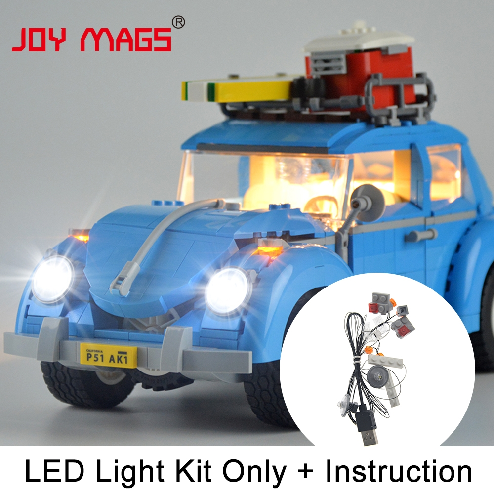 JOY MAGS Only Led Light Up Kit For Trains High-Speed Passenge Building Blocks Compatible With Lego 60051 And 02010