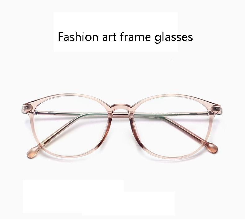 3599d2b7b7 Gafas de mujer de moda Vintage redondo transparente lente Ultraligero  Hombres anteojos ópticos marco Metal gafas estilo coreano