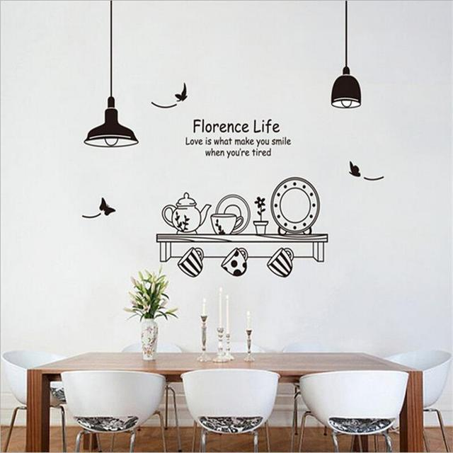 Florence Life Dining Table Vinilos Wall Stickers Home Decor Sofa Living  Wall Sticker Decals Wall Art