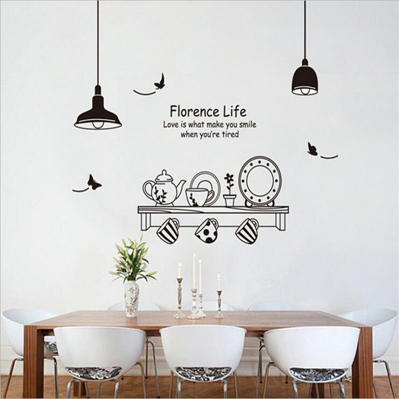 Florence Life Dining Table Vinilos Wall Stickers Home Decor Sofa Living Sticker Decals Art