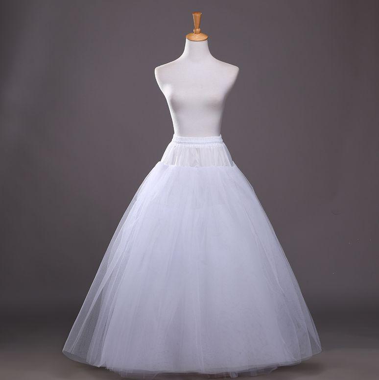 2018 New Petticoat Long Tulle Skirts Womens Underskirt For Wedding Dress Lolita