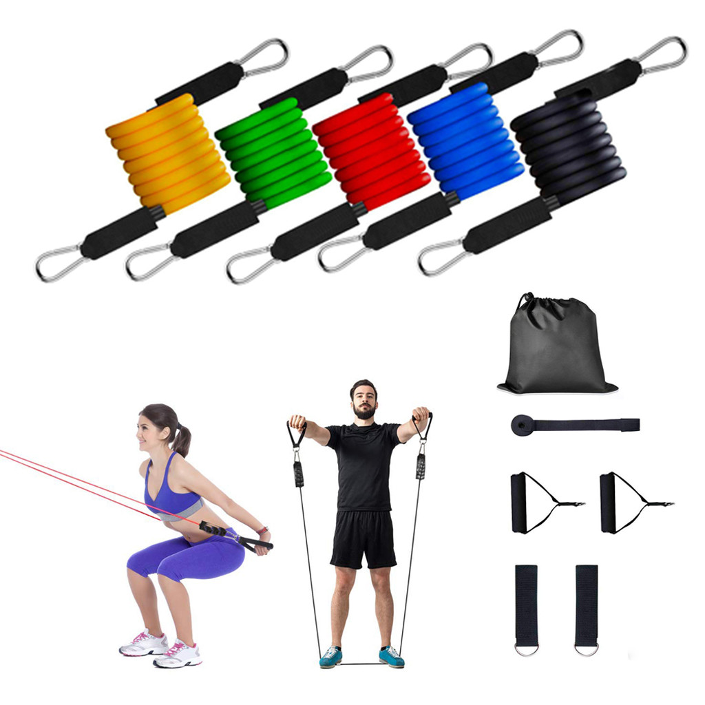 Elastic Resistance Loop Bands for Yoga Pilates Abs Exercise Workout Fitness Gym