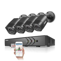 ANNKE 8CH HD TVI 1080P Lite CCTV Security System DVR And 4 720P 1280TVL Outdoor Weatherproof