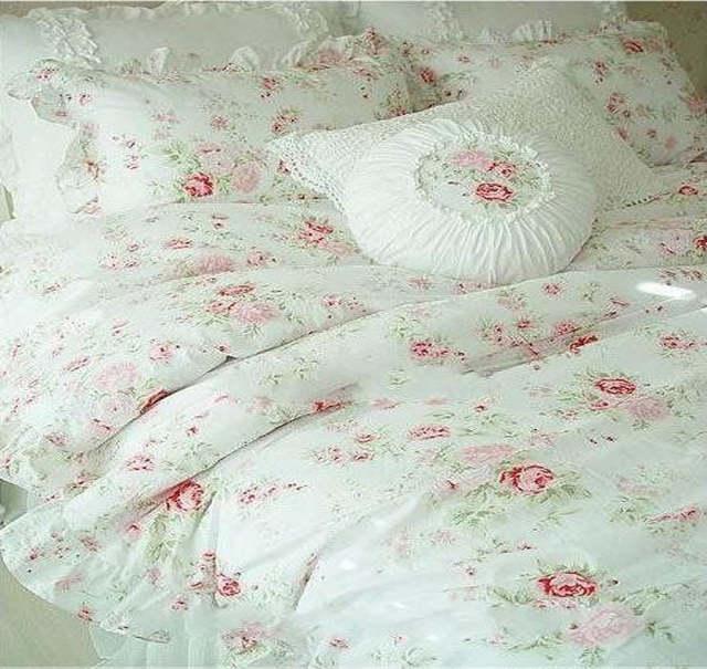 dae8e1c5d7 placeholder Vintage Red Rose princess Bedding set floral cotton girls Duvet  Cover king queen twin rural comforter
