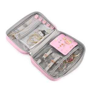 Image 5 - Travel Jewelry Organizer Bag Women Necklace Rings Earrings Bracelet Display Pouch High Capacity PU Traveling Jewelry Case