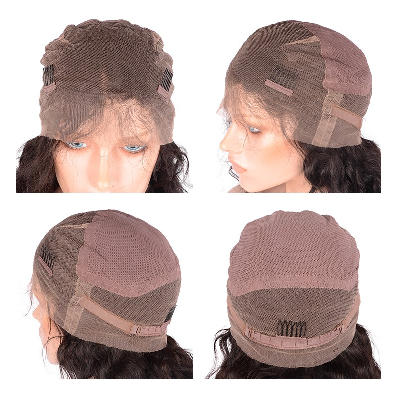 Sunnymay Πλήρης Lace Ανδρικά μαλλιά - Ανθρώπινα μαλλιά (για μαύρο) - Φωτογραφία 6