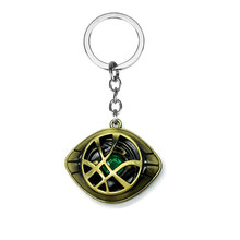 HOT Movie The Avengers Infinity War Doctor Strange Necklace Crystal Eye of Agamotto Pendant Jewelry High quality Keychain(China)