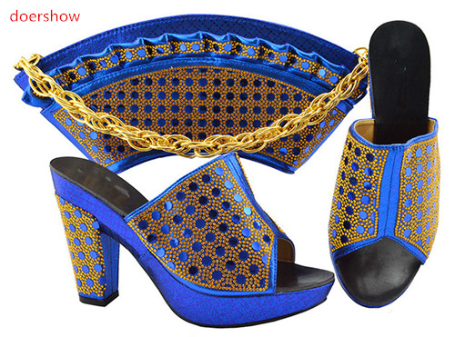 doershow Italian Shoe with Matching Bags Shoe and Bag Set for Party In Women Italian Matching Shoe and Bag Set with blue PFG1-37doershow Italian Shoe with Matching Bags Shoe and Bag Set for Party In Women Italian Matching Shoe and Bag Set with blue PFG1-37