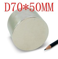 70*50 2 pcs 70 mm x 50 mm disc powerful magnet craft neodymium strong N35 N35 70*50 70x50