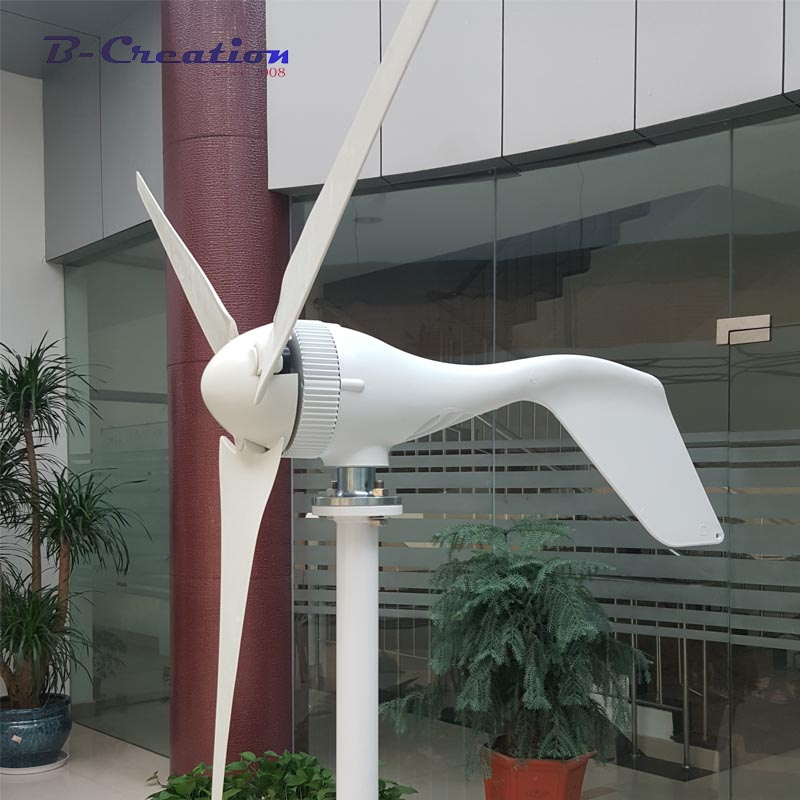 400W wind generator, 3/5 blades wind turbine generator, CE&ROHS approval wind power generator+wind controller. 1kw horizontal wind turbine generator 3 5 blades start up 2m s 24v 48v optional wind generator ce approval