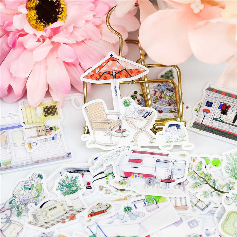 23pcs Cute Sweet Leisure life Stickers Planner Decoration Diy Scrapbooking Label Bullet Journal Sticker Kawaii Stationery
