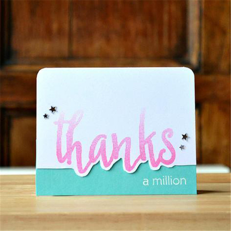 YaMinSanNiO Thanks Letter Metal Cutting Dies Word Stamps and Dies Scrapbooking For Making Card Decoration Craft Stencil Template in Cutting Dies from Home Garden