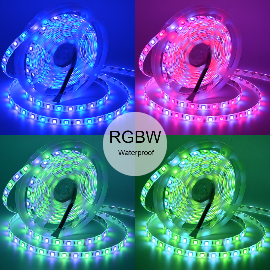 Image 5 - RGBW 12V LED Strip 5050 Waterproof IP20/IP65 Flexible led Light Tape+ Mi Light RF Touch Remote+WiFi Box+4pcs 4 Zone Controller-in LED Strips from Lights & Lighting