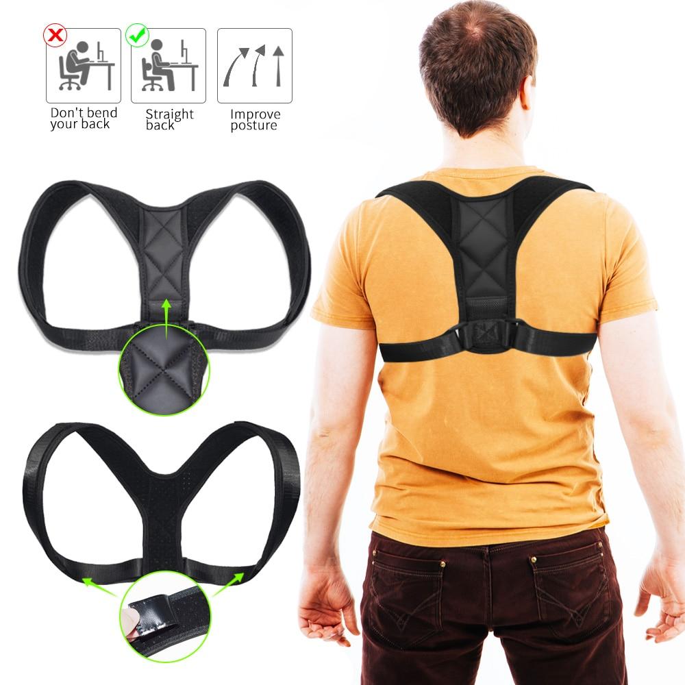 Adjustable Back Posture Corrector Clavicle Spine Back Shoulder Lumbar Brace Support Belt Posture Correction Prevents Slouching