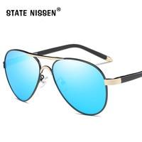 6edefa2b5b STATE NISSEN Luxury Brand Designer Polarized Sunglasses Men UV400 Pilot Sun  Glasses Outdoor Driving Eye Wear
