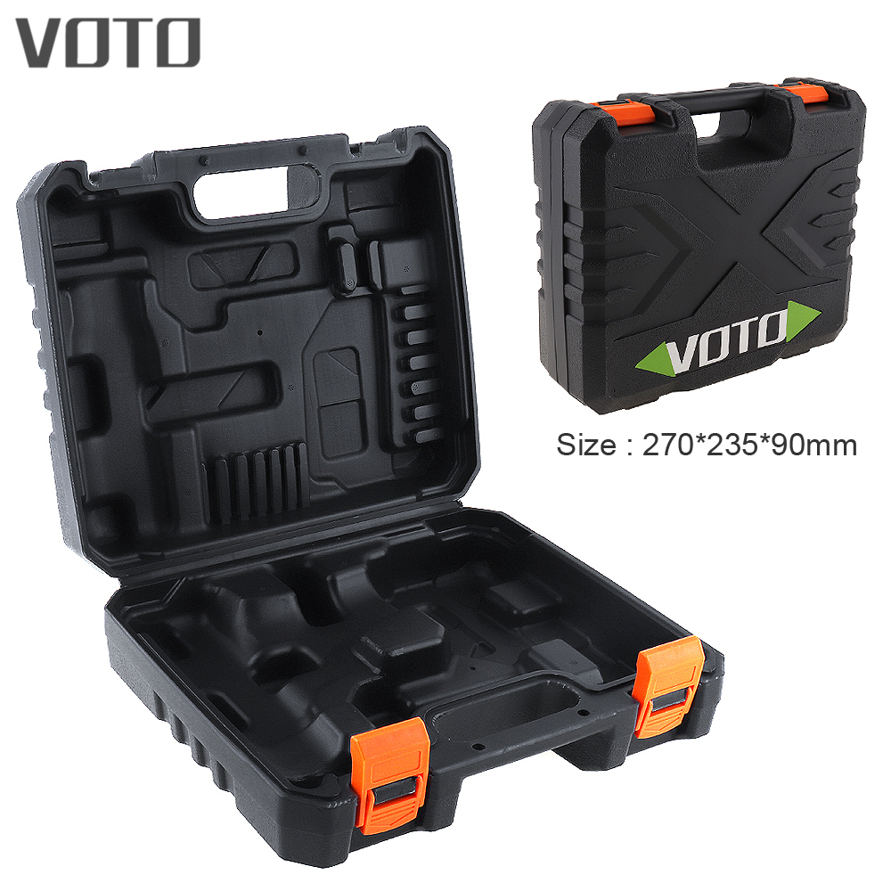 VOTO Power Tool Suitcase 21V Dedicated Tool Box Holder Storage Case with 270mm Length for Lithium Drill Electric Screwdriver 1pcs lot battery holder box case 3x aa 4 5v with switch