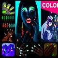 2016 Nueva 10g Polvo Fluorescente DIY Del Arte Del Clavo Brillante Resplandor En el Polvo de Pigmento Resplandor Luminoso Brillo Del Clavo Del Polvo de Arena Oscura GM848