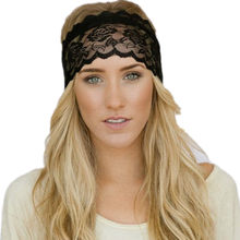 Bargain Women Headband Ladies Black And White Lace Sports Yoga Sweatband Gym Stretch Headband Hair Band Tiara de cabelo de mulher A8 save