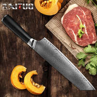XITUO Damascus Steel Kitchen Knife Sharp Chef Knife Slicing Cleaver Vegetables Utility Kiritsuke Knivse Home Gift Cooking Tools