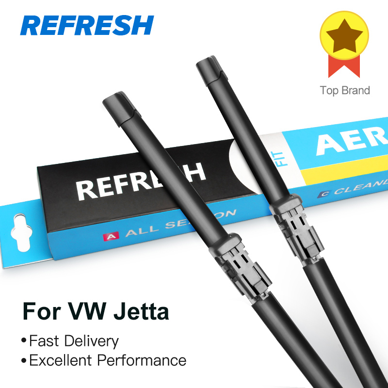 REFRESH Wiper Blades for Volkswagen Jetta A5 / A6 2005 2006 2007 2008 2009 2010 2011 2012 2013 2014 2015 2016 2017