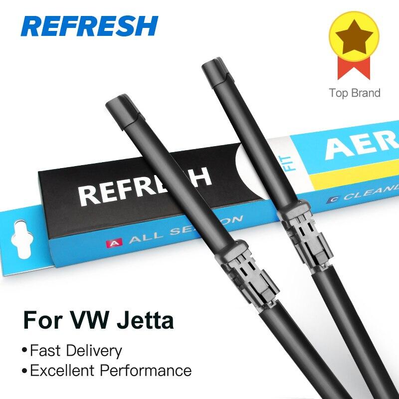 REFRESH Wiper Blades for Volkswagen Jetta A5 / A6 2005 2006 2007 2008 2009 2010 2011 2012 2013 2014 2015 2016 2017